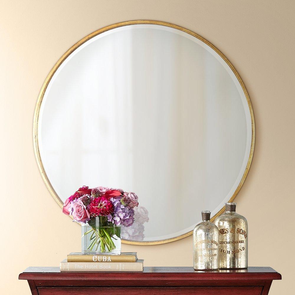 Beautiful 34 Inch Round Mirror Part - 12: Amazon.com: Uttermost Junia Antique Gold 34u0026quot; Round Wall Mirror: Home U0026  Kitchen