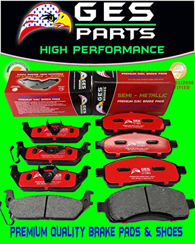 2 Sets 04-08 FORD F150 Front & Rear Premium Quality Brake Pads D1083 / D1012 by GES PARTS