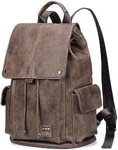 KTSWP Anti Theft Backpack Men Laptop Backpacks for Teenager Women Male Preppy Style School Bag Cover Travel Backpack Leather