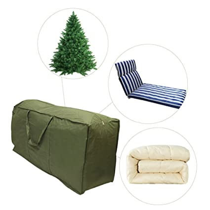 Cushion Storage Bag Furniture Cover Protective Zippered Storage Bag  Rectangular Waterproof Premium Zippered Green Cushion Bags