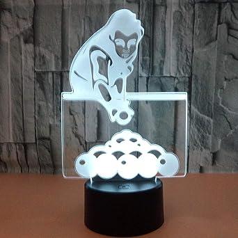 AMAYAZ Luz De La Noche 3D Iluminación Infantil Jugar Al Billar ...