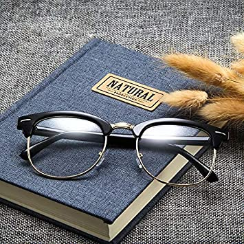 Men Women Black Retro Hipster Sunglasses Oversized Frame Nerd Geek Plain Glasses