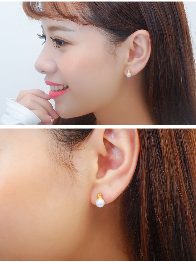 KENHOI Beauty thai love your unique bulb pearl earrings earings dangler eardrop women girls s925 silver woman fashion creative gift personalized by KENHOI Beauty