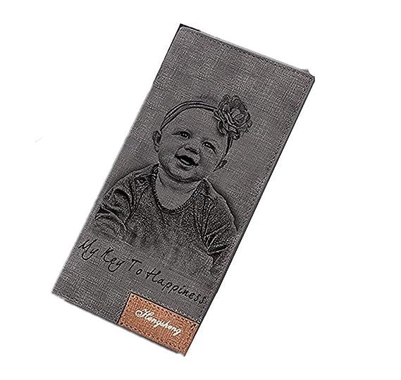 Carteras personalizadas de la foto de las mujeres Titular de la tarjeta de crédito de señora Long Bifold Purse para el regalo (Empaquetado con Caja de ...