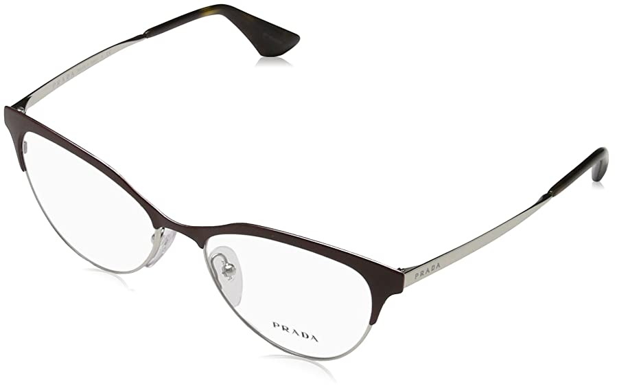 Prada CINEMA PR55SV Eyeglass Frames UF61O1-52 - Amaranth/silver at ...