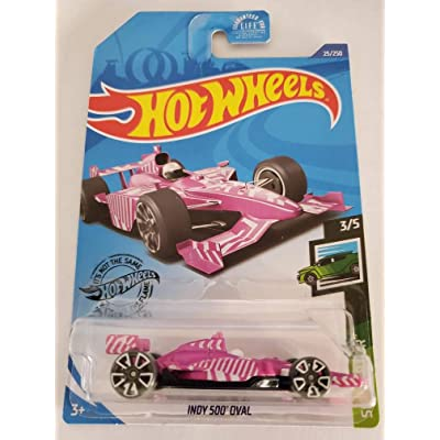 Hot Wheels 2020 Speed Blur Indy 500 Oval, Pink 25/250: Toys & Games