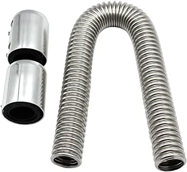 KKmoon Radiator Hose Kit 24 Flexible Upper Lower Radiator Hose Kit /& Stainless Steel w//Chrome Caps V8