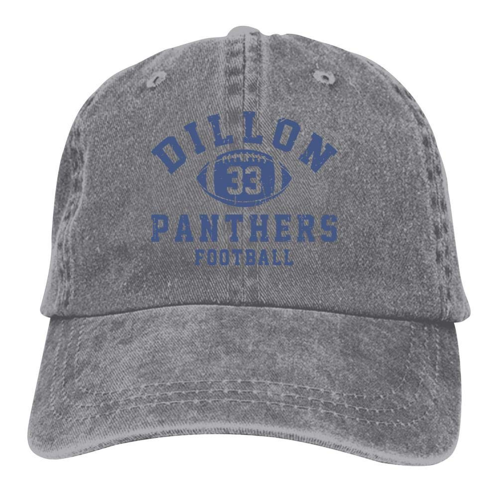 Dillon Panthers Football Unisex Adult Baseball Caps Vintage Jeans Adjustable Denim Cotton Hat