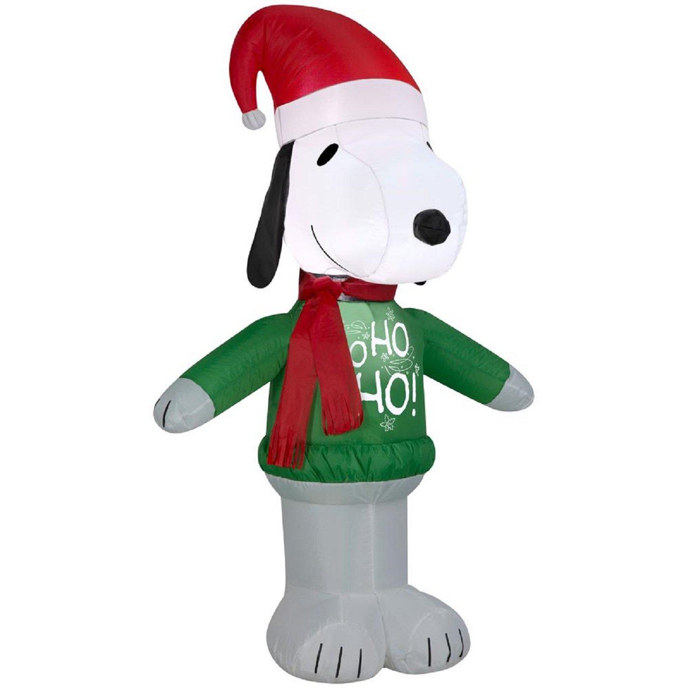 Amazon.com : Gemmy 15375 Airblown Snoopy Ho Sweater Christmas ...