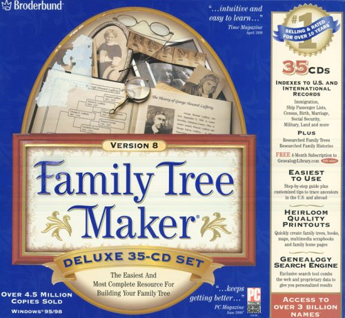 Family Tree Maker 8 (35 CD set): Amazon co uk: Software