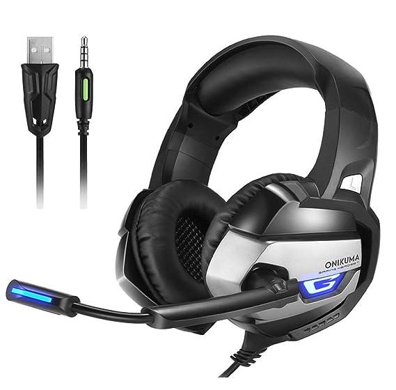b1bd0c0caeb Amazon.com: ONIKUMA K5 Best Gaming Headset Gamer Deep Bass Gaming ...