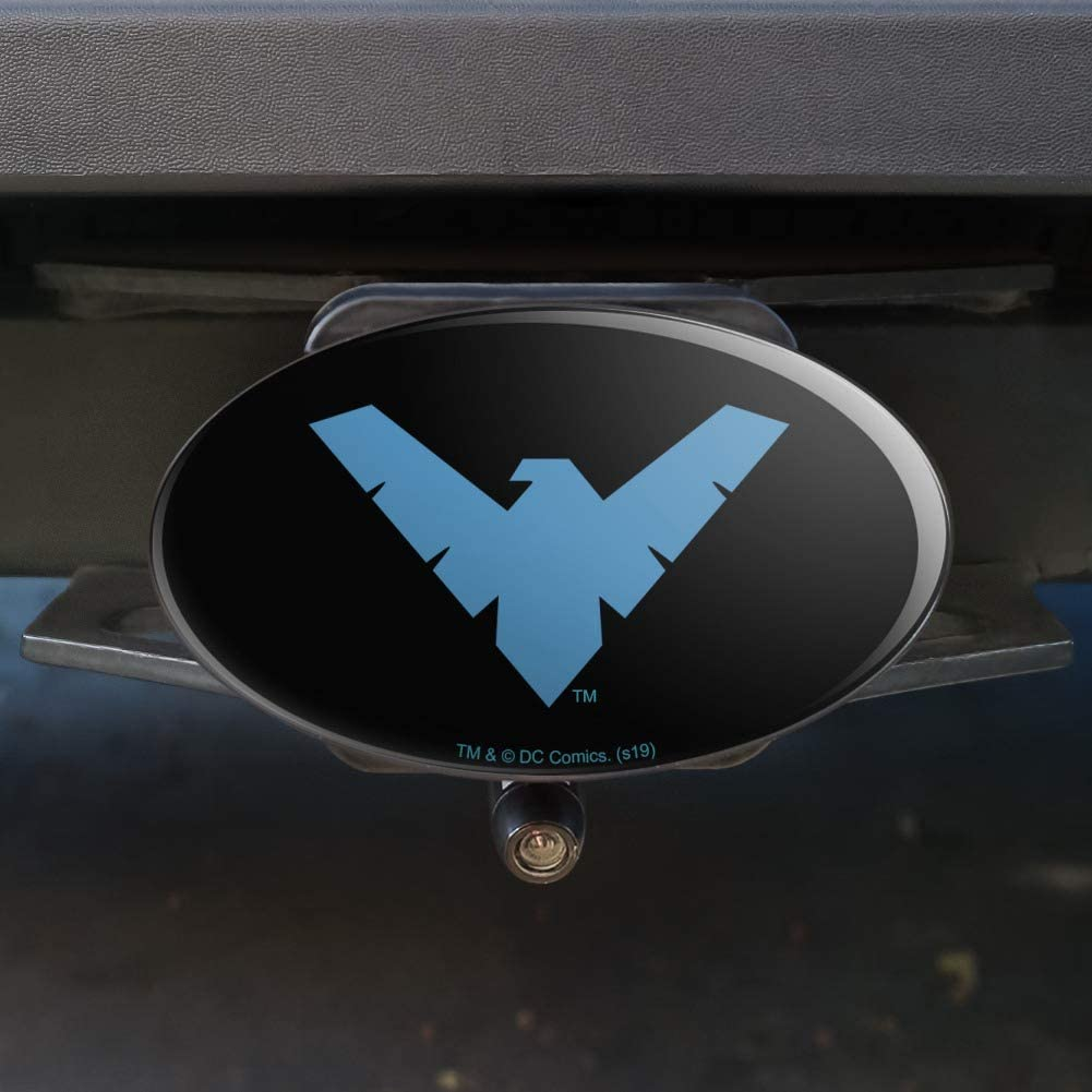 Graphics and More Batman Nightwing Logo Oval Tow Trailer Hitch Cover Plug Insert