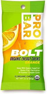 product image for PROBAR - BOLT Organic Energy Chews - Orange - USDA Organic, Gluten-Free, Superfruit Blend, Electrolytes, B Vitamins - Pack of 12