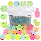 POKONBOY 23 Pack Squishies Mochi Squishy Toys Glow in The Dark Party Favors for Kids - Mini Kawaii Squishies Mochi…