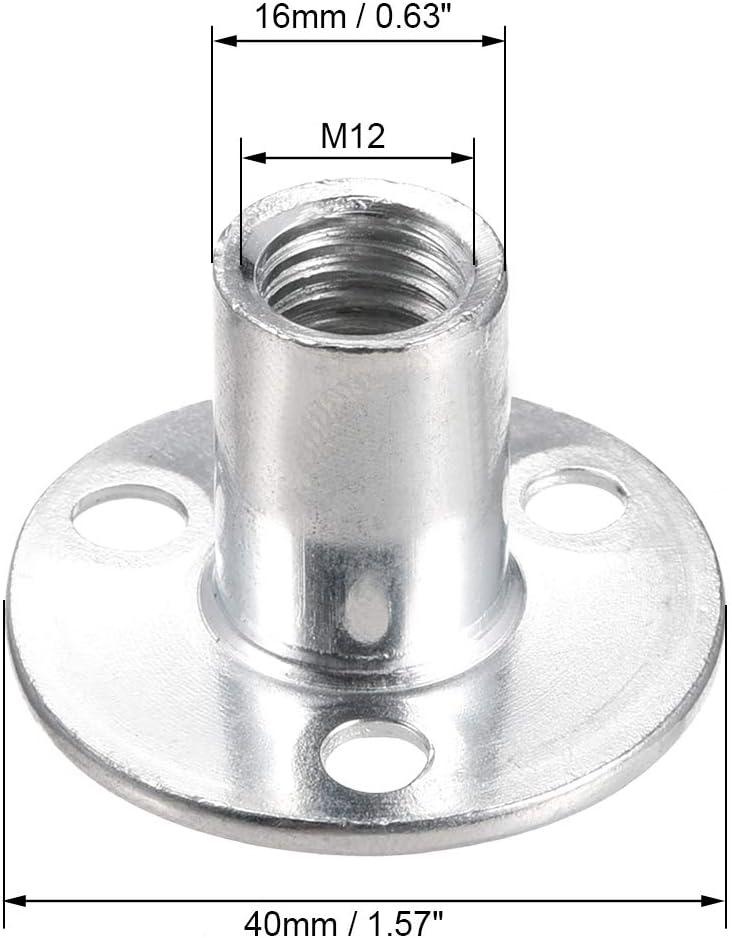 Sourcing Map T-Nut aus Karbonstahl zum Schrauben rund T-Nut f/ür M/öbel