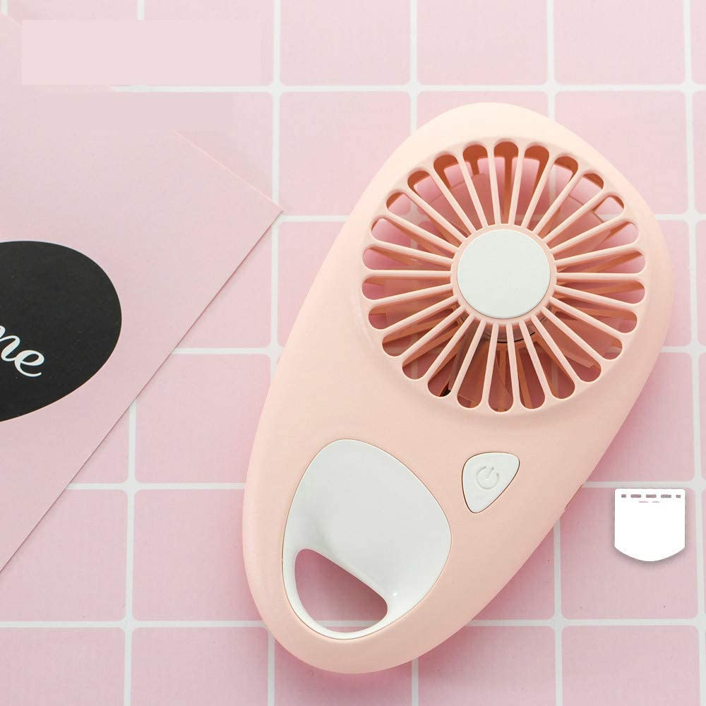 Pink for Office Dorm Classroom Bedroom Traveling Shopping Dacorda Handheld Baseless Drop-Shaped Pocket Fan 3 Colors USB Drop Fan Summer/'s Choice Personal Cooling Rechargeable Portable Cooler