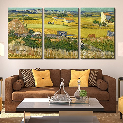 3 Panel The Harvest by Vincent Van Gogh Gallery x 3 Panels