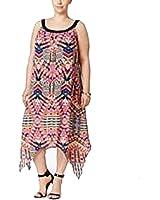 Ny Collection Plus Size Handkerchief-Hem Dress (2X-large)