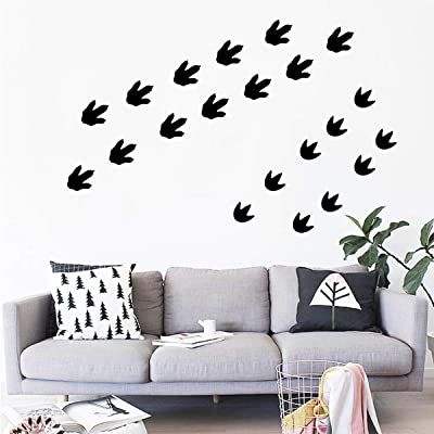 Pop Resin Dinosaur Footprints Stickers 45 pcs Dinosaur Tracks Decals Removable Peel and Stick Wall StickersBaby Nursery Removable Wall Decor Decals: Home & Kitchen