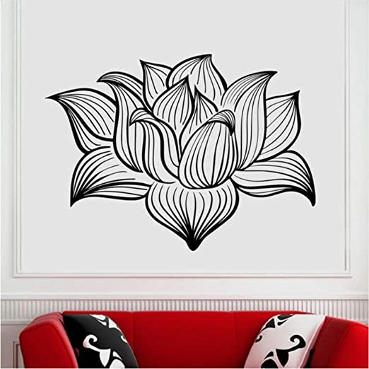 Pegatinas De Pared Yoga Club Sticke Lotus Decal Patanjali ...