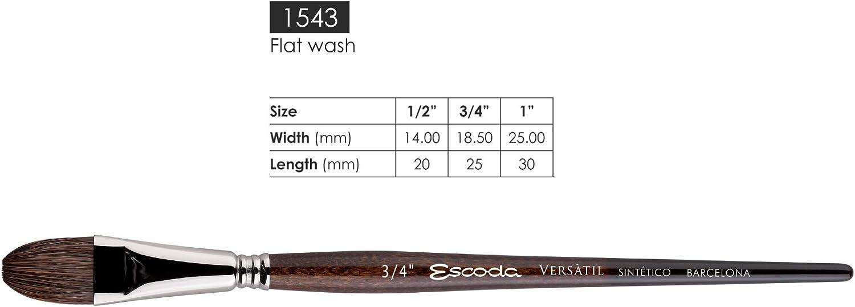 Speedball 1548//3 Escoda Versatil Series Watercolor Travel Brush Set 3 Synthetic Kolinsky
