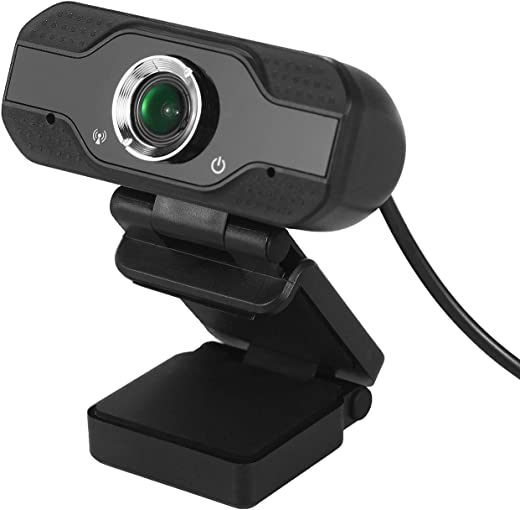 ammoon USB Webcam 1080p HD 30fps Desktop Clip-On PC Laptop Camera with Noise Canceling Microphone compatible with Video Conferencing Live Streaming Online Courses Recording Compatible with Windows