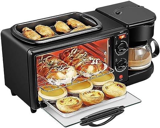 Tres-en-uno tostadora, 3-en-1 Multifunción Desayuno Centro W/Horno ...