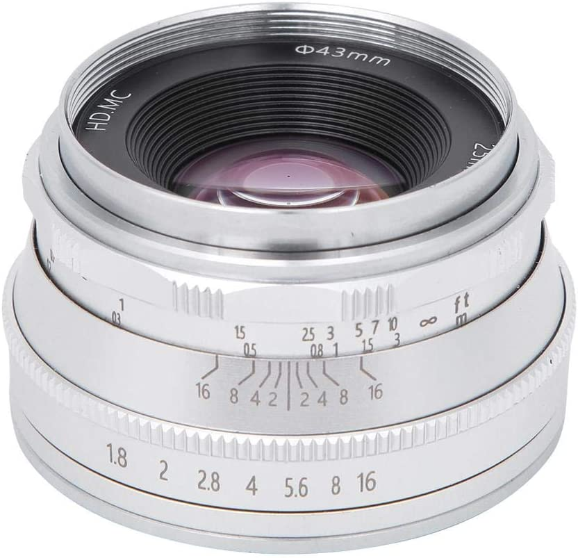Spiegelloses Kameraobjektiv Metall 25mm F1 8 Elektronik