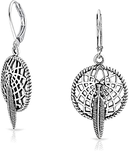 Womens Earrings Cross Silver Bohemian Tribal Inspired Hook 1pair US Dangle New