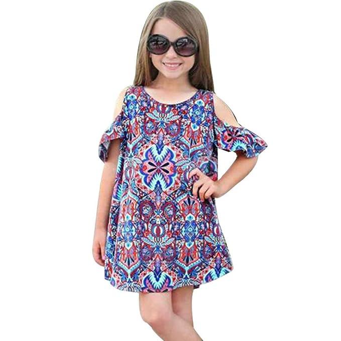 K Youth 2018 Verano Ropa Bebe Niñas Vestido Niña Bohemio Impresión Trajes Vestidos Para Niña Casual Vestido Infantil Fiesta Niñas