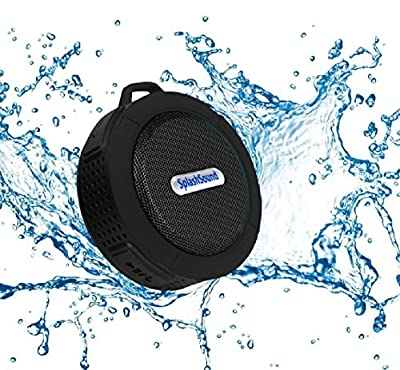 Splashsound Shower Speaker - Waterproof Bluetooth Shower Speaker with Suction Cup, Hanging Clip and Micro SD Card Slot – Clear 5W Audio Output from Platinum Sales Group
