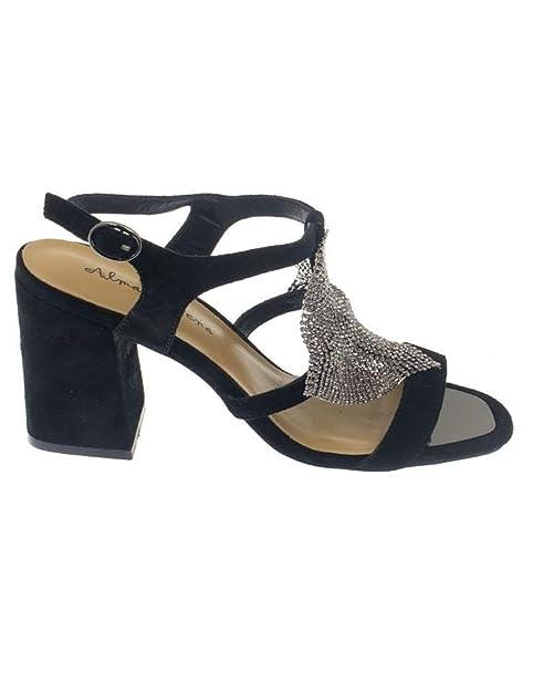 c7987026fa4 Sandalia Alma En Pena V17249 Ante Negra: Amazon.es: Zapatos y complementos