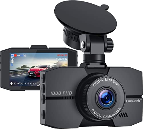 Campark Dash Cam 1080P Full HD Dash Camera for Cars 3 IPS Screen DVR Dashboard Driving Recorder with 170 Wide Angle Night Vision Loop Recording G-Sensor and Parking Monitor