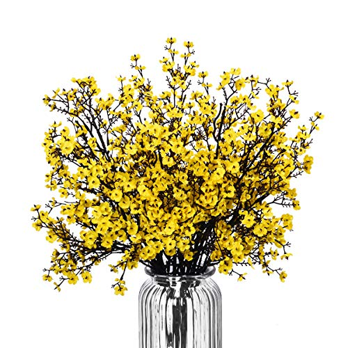 Baby Breath Gypsophila Artificial Flowers, Babies Breath Flowers Bush Artificial Gypsophila Silk Silica Real Touch Blooms for Wedding Bridal Party DIY Home Floral Arrangement Decor, 10 Bundles, 19.7'' -
