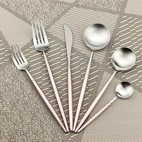 Gugrida 6-Piece 18/10 Stainless Steel Flatware Silverware Dinnerware Set Cutlery Tableware Include Knife Fork Spoon…
