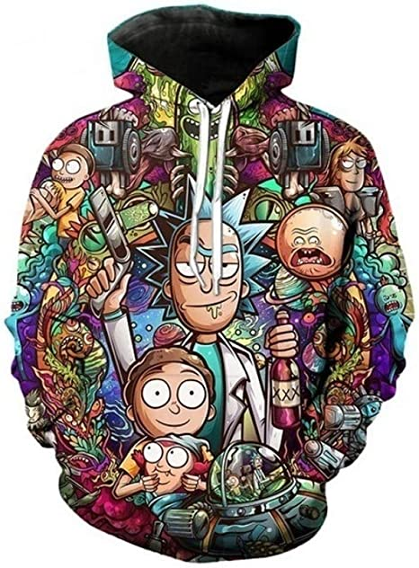Hoodie with 3D printed graphics