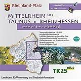 Mittelrhein, Taunus, Rheinhessen 1 : 25 000. CD 3. CD-ROM für Windows 98/ME/NT4.0/2000/XP