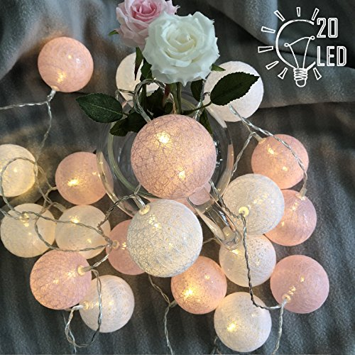 Gladworts Decorative String Lights for Bedroom Led Globe Newborn Decor Balls, USB Powered Indoor Lights for Home Decor, 10ft