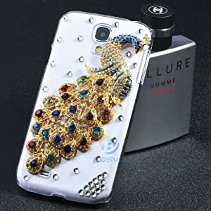 ModernGut For Samsung galaxy Note2 S4 S3 N70 i9500 i9300 grand duos i9082 peafowl bling diamond rhinestone 3D luxury Case cover 1 piece