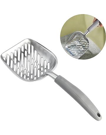 UEETEK Pala de basura para gatos,El metal de aluminio durable se dispersó la cucharada