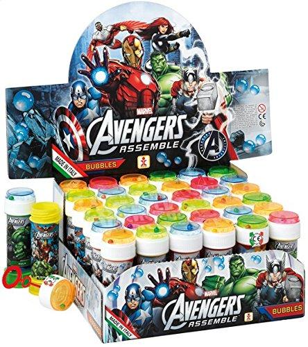 Fancy Me Box of 36 or 6 Bubble Pots - Boys Girls Marvel Avengers Bubbles Party Loot Bag Stocking Fillers Garden Game Ideas (6 Pots, Avengers) -