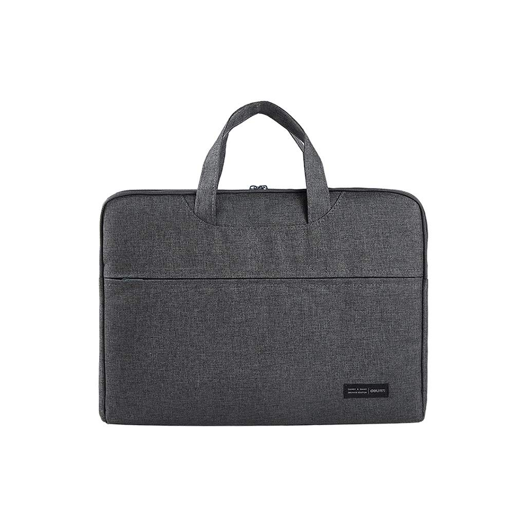 Briefcase Men's File Bag Canvas Handbag Waterproof and Thickened Zipper File Bag 38×30cm (Color : Gray, Size : 38×30cm) by QSJY File Cabinets