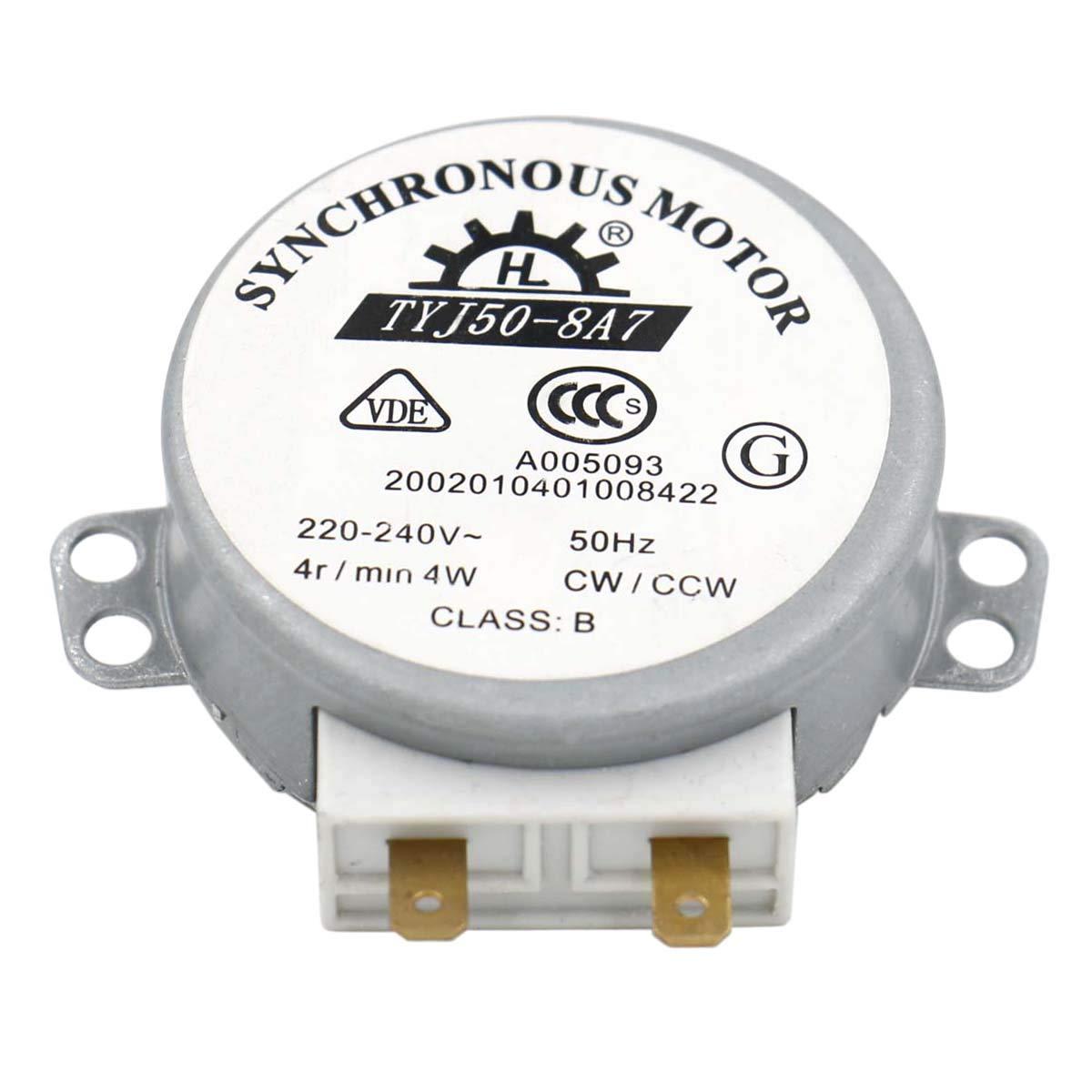 Heschen motor TYJ50-8A7 220-240V AC 4R / Min CW / CCW 50Hz para mesa de viraje de horno de microondas VDE listada