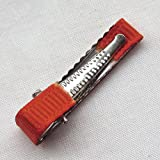 Chenkou Craft Prong Hair Clips Hair Pin Covered Grosgrain Ribbon DIY Hair Jewelry Craft 32mm40mm50mm Choice 40pcs