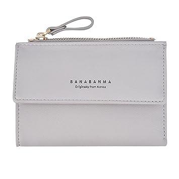 f9fdfb266b1b5 Portemonnaie Piebo Mini Börse Täschchen mit Reißverschluss Damen Kleine  Geldbeutel PU Leder Brieftasche für Frauen Mädchen