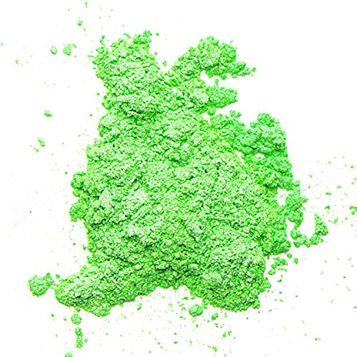 Mica Powder (Green Pearl Dry) 2 oz - Soap Making Kit - Powdered Pigments Set - Soap Making dye - Single Color - Hand Soap Making Supplies - Resin Dye - Mica Powder Organic for Soap Molds