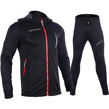 4e651df23839de Leoconfiance Abbigliamento da Ciclismo Invernale da Uomo, Completo di  Abbigliamento Sportivo Invernale, Completo di