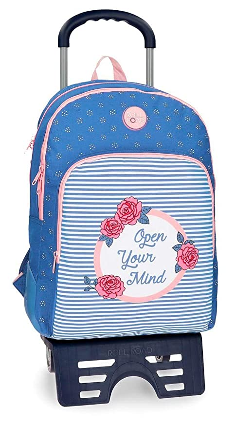 Mochila Doble Reforzada Roll Road Rose con Carro