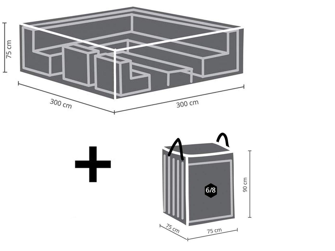 Amazon.de: Schutzhüllen Set: Abdeckung 300x300cm für Garten Lounge ...