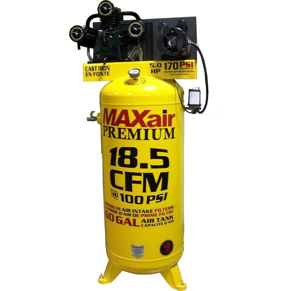Maxair C5160V1-MAP 60-Gallon 170 PSI Max Electric Stationary Compressor C5160V1MAP